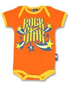 Six Bunnies Baby ROCKSTAR Strampler.Tattoo,Biker,Oldschool,Custom Clothing Style