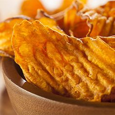 Sweet potato chips are a great alternative to traditional potato chips or French fries. They pair perfectly with sandwiches or burgers, or can be eaten alone as a healthy snack.