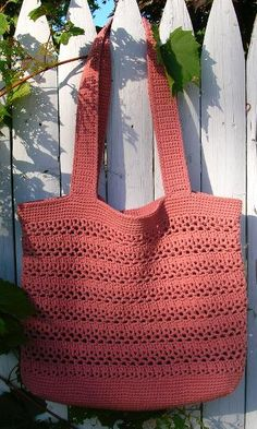 Lacy V Shopping Bag pattern by Cathy Phillips