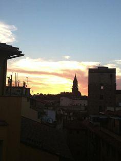 Sunset on 6° floor at Terrace Wine Bar on Hotel Pitti Palace al Ponte Vecchio