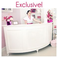 Your Salon Store | Reception Furniture | YOUR SALON STORE LARGE QUARTER CIRCLE RECEPTION DESK