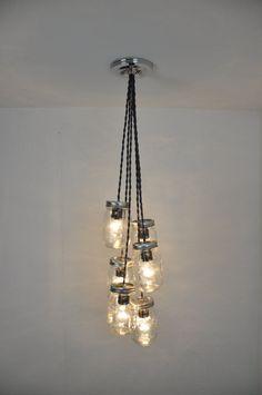 ideas for hanging lighting fixtures farmhouse Farmhouse Light Fixtures, Dining Room Light Fixtures, Industrial Light Fixtures, Modern Light Fixtures, Bathroom Light Fixtures, Farmhouse Lighting, Mason Jar Pendant Light, Mason Jar Light Fixture, Mason Jar Chandelier