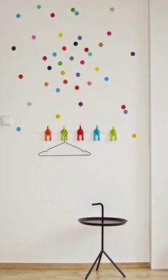 mommo design: IKEA HACKS FOR KIDS - Bastis hooks as coat rack