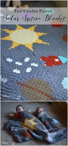 I have rounded up some of the best and interesting free crochet Blanket patterns for your home!C2C Solar System Blanket