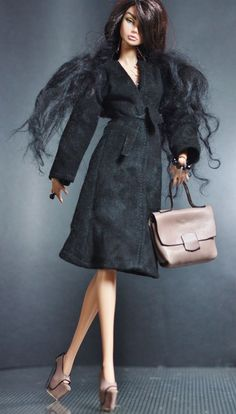 dollsalive fashion royalty,FR2 , Fascinator Class OOAK outfit,leather shoes,bag