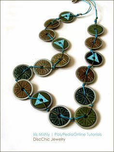 Polymer Clay DiscChic Jewelry by Iris Mishly, via Flickr