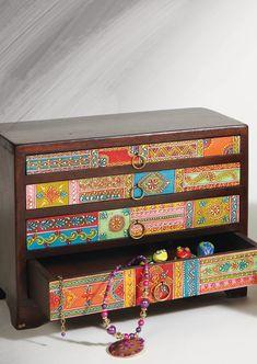 Hand painted mango wood large 4 drawer chest | namaste-uk ♥•♥•♥
