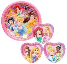 Disney Princess Birthday Party Paper Plates - 48CT