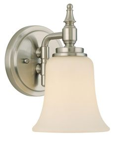 Darcy One Light Brushed Steel Wall Sconce -
