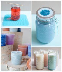 Mason Jar Candles DIY Tutorial | http://diygiftworld.com/mason-jar-candles-diy-tutorial/