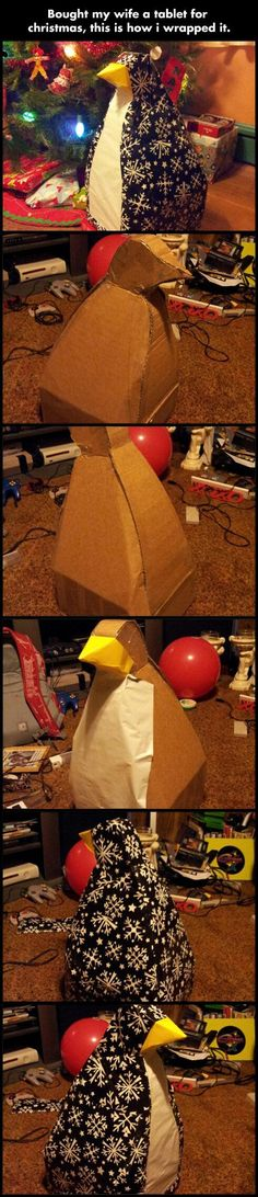 funny-package-penguin-Christmas-present-gift-1.jpg (540×2499)