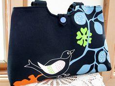 Handbag Purse Tote in  Bird on a Branch in by Antiquebasketlady, $41.50 #teamsellit