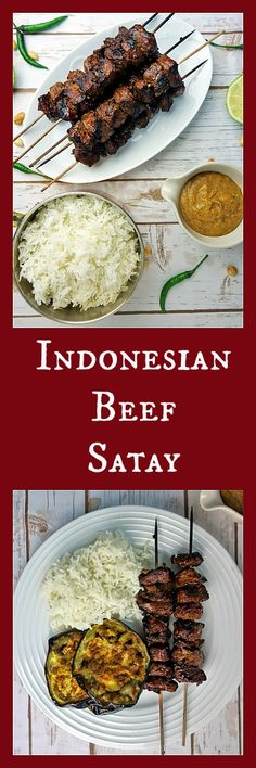 The Best Super Easy Indonesian Beef Satay with Spicy Peanut Sauce