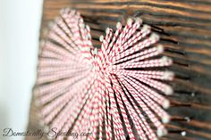 Cute Valentine's Art with Baker's Twine @ Domestically-Speaking.com