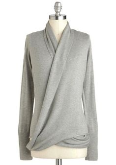 Architect's Message Cardigan in Fog, #ModCloth
