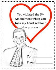 Notorious RBG Used to Jazzercise But Now Does an Air Force Workout - Humor My Funny Valentine, Valentine Special, Happy Valentines Day, Law School Humor, Lawyer Humor, Legal Humor, Law Quotes, Happy V Day, Paralegal