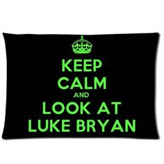 "Luke Bryan Pillowcase Covers Standard Size 20""x30 ($15.18)"