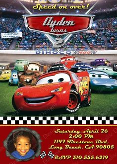 Disney Cars Birthday Party Invitation 1 photo by montrosedesigns