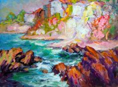 """Saatchi Art Artist Manfred H Kuhnert; Painting, """"Moss Point, Laguna Beach"""" #art"""