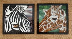 Zebra & Giraffe by Lou Ann Weeks - Stained glass and glass tiles