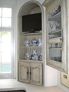 J. Tribble | Custom Kitchens Custom Kitchens, Functional Kitchen, French Country Decorating, Custom Cabinets, Kitchen Furniture, Painted Furniture, Bookcase, French Kitchens, Entryway