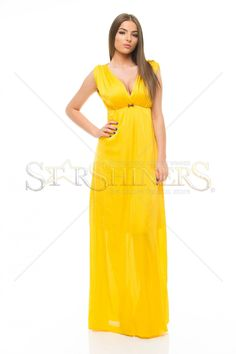 PrettyGirl Chromatic Yellow Dress Bow Accessories, Dress With Bow, Blue Moon, Yellow Dress, Clothing Items, How To Wear, Outfits, Clothes, Collection