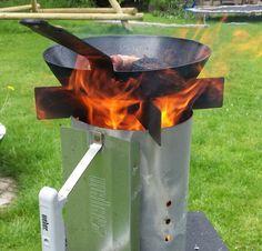 Weber wood stove