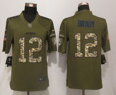 0a3348250 New England Patriots 12 Brady Green Salute To Service New Nike Limited  Jersey New England Patriots