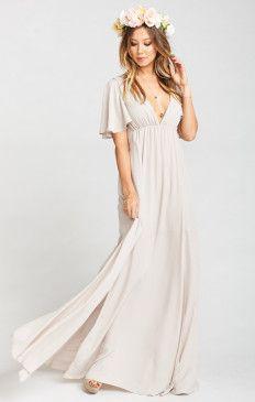 83910de58 Faye Flutter Maxi Dress ~ Show Me the Ring Crisp - Show me Your Mumu  bridesmaids dresses