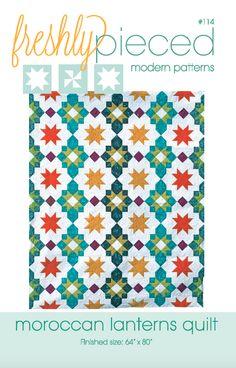 Moroccan Lanterns PDF Pattern - Freshly Pieced Quilt Patterns - 3