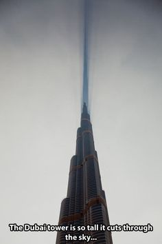 """That's why they call it a """"skyscraper"""""""