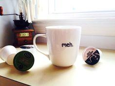 'Meh.' coffee mug