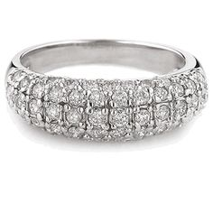 Why, yes, Darling, this  WOULD be a fantaboulously delicious & delightful birthday or VDay Gift! It would definitely get you that 'Kay's Kiss' & then some ;). Get to thee jeweler, Sir! Gorgeous band ... 14K White Gold 1.05ct Diamond Pave Band