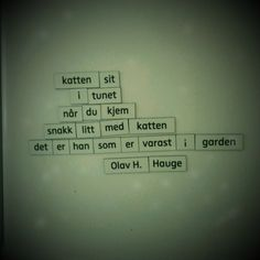 Olav H. Hauge Note To Self, Poems, Hearts, Wisdom, Quotes, Diy, Animals, Inspiration, Quotations