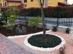 Risultati immagini per giardini con aiuole e sassi  giardino  Pinterest  R...