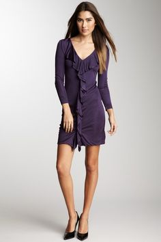 My Tribe V-Neck Ruffle Dress by Blowout on @HauteLook