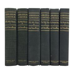 Abraham Lincoln Prairie & War Years - Set of 6 ($149) ❤ liked on Polyvore featuring books, fillers and art books