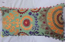 Multi Colors Suzani Embroidered Work Pillow Cover New Decorative Cushion Covers