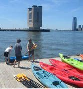 Kayak 'round Hudson River Pier 96, Pier 40, 72nd Street, Governors Island. The Downtown Boathouse super loves the Hudson. So hard they strive to provide free kayak rentals for floating upon it. Only the Pier 96 and Pier 40 locations are open during the week, though (5 pm to 7 pm Monday through Friday, 5 pm to 7 pm Thursday, respectively).  For the skiddish parents (or their adult children [you]), they also offer free lessons. Price - free.