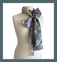 "Original scarf tie, bohemian chic, tie,   ""Bella"" One of a kind - pinned by pin4etsy.com"