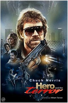 Hero and the terror Action Movie Poster, Best Movie Posters, Action Movies, Action Film, Film Poster, Chuck Norris Movies, Chuck Norris Facts, Abc Cinema, Cinema Posters