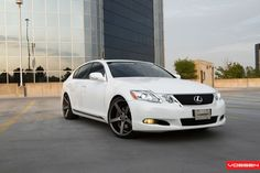 Gunmetal Vossen Rims Enhance White Lexus GS350 — CARiD.com Gallery White Lexus, Jdm Cars, Buying Wholesale, Things To Sell, Gallery, Roof Rack