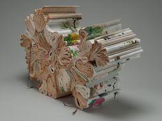 book sculpture, by jacqueline rush lee