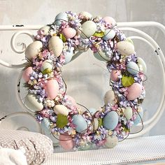 #Easter Wreath    -  http://vacationtravelogue.com this is very pretty and delicate