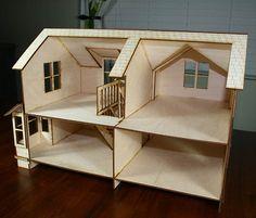 Crockett Victorian Dollhouse Kit 1/4 Scale by VictorianDollhouse