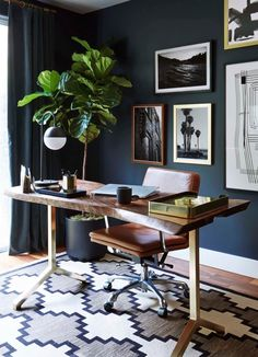 Emily Henderson_Home Office_Dark_Modern_Masculine_2