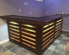 The Kona ~ Pallet Bar / Tiki Bar August Super Sale ~ The Most Incredible True Indoor & Outdoor Pallet Bar - Pallet Diy Outdoor Pallet Bar, Wood Pallet Bar, Wood Pallets, Rustic Outdoor, Pallet Bar Plans, Pallet Bar Stools, Bar Made From Pallets, Outdoor Patio Bar, Pallet Seating