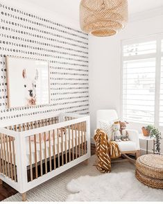 Shop for the newest trends in nursery decor here at Project Nursery. Browse new baby clothes, furniture, wallpaper, accessories, toys and so much more! Baby Nursery Decor, Baby Bedroom, Baby Boy Rooms, Baby Decor, Nursery Room, Boho Nursery, Project Nursery, Tan Nursery, Rugs In Nursery