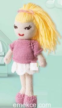 Amigurumi Sarı Saçlı Kız Yapılışı