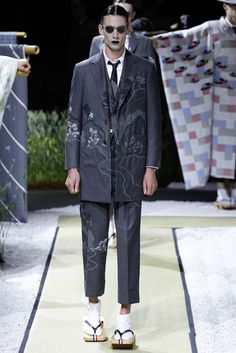 Thom Browne Spring 2016 Menswear - Collection - Gallery - Style.com: Creepy, but with Thom Browne that's probably the point